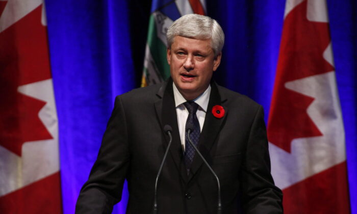 Former prime minister Stephen Harper in a file photo. (The Canadian Press/Jeff McIntosh)