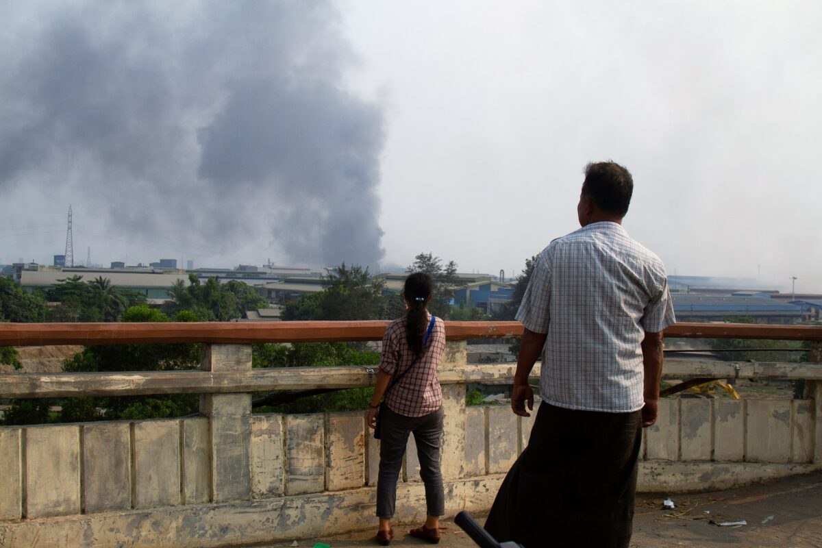 Myanmar chinese factory fire