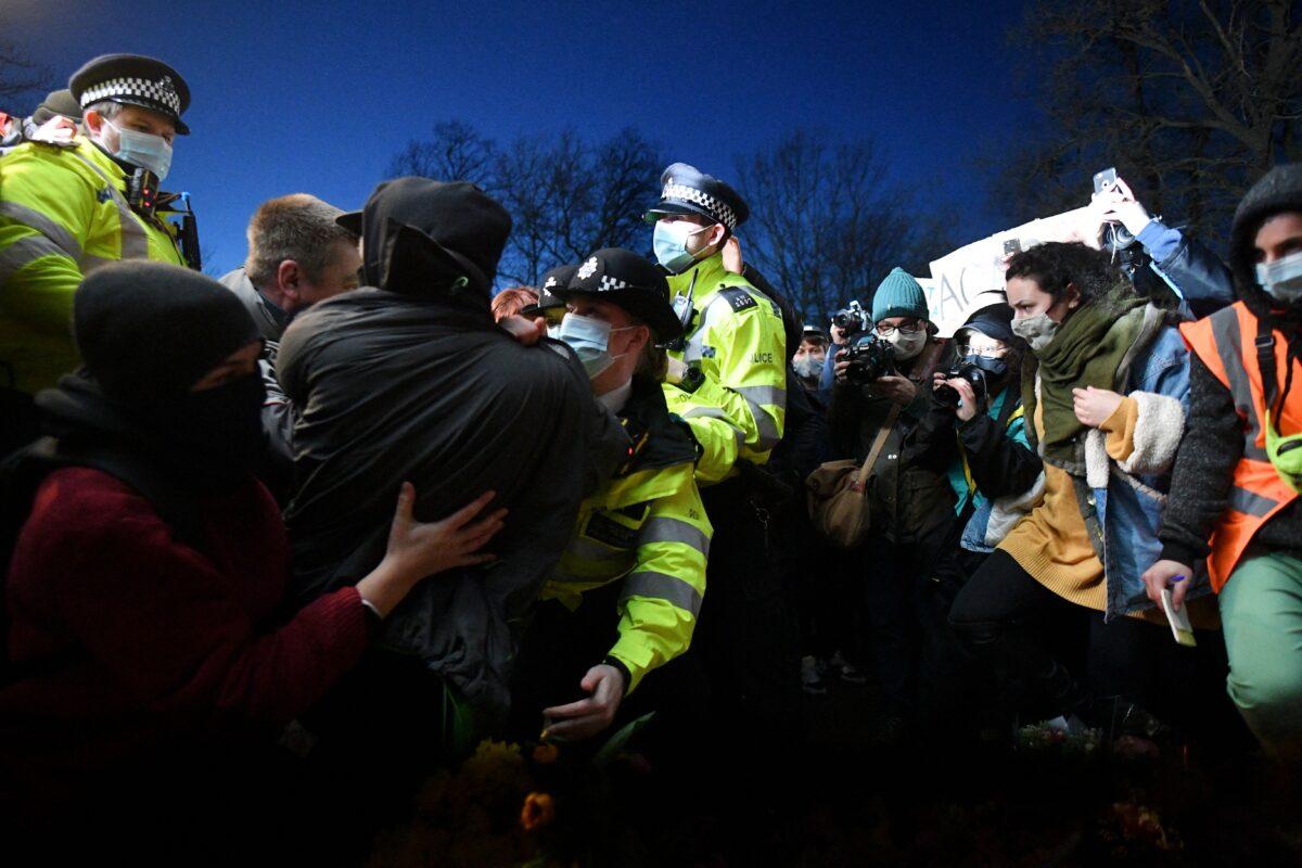 Sarah Everard vigil clash
