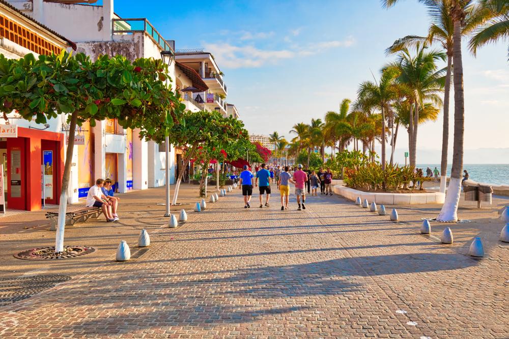 Puerto,Vallarta,,Mexico-20,April,,2018:,Famous,Puerto,Vallarta,Sea,Promenade