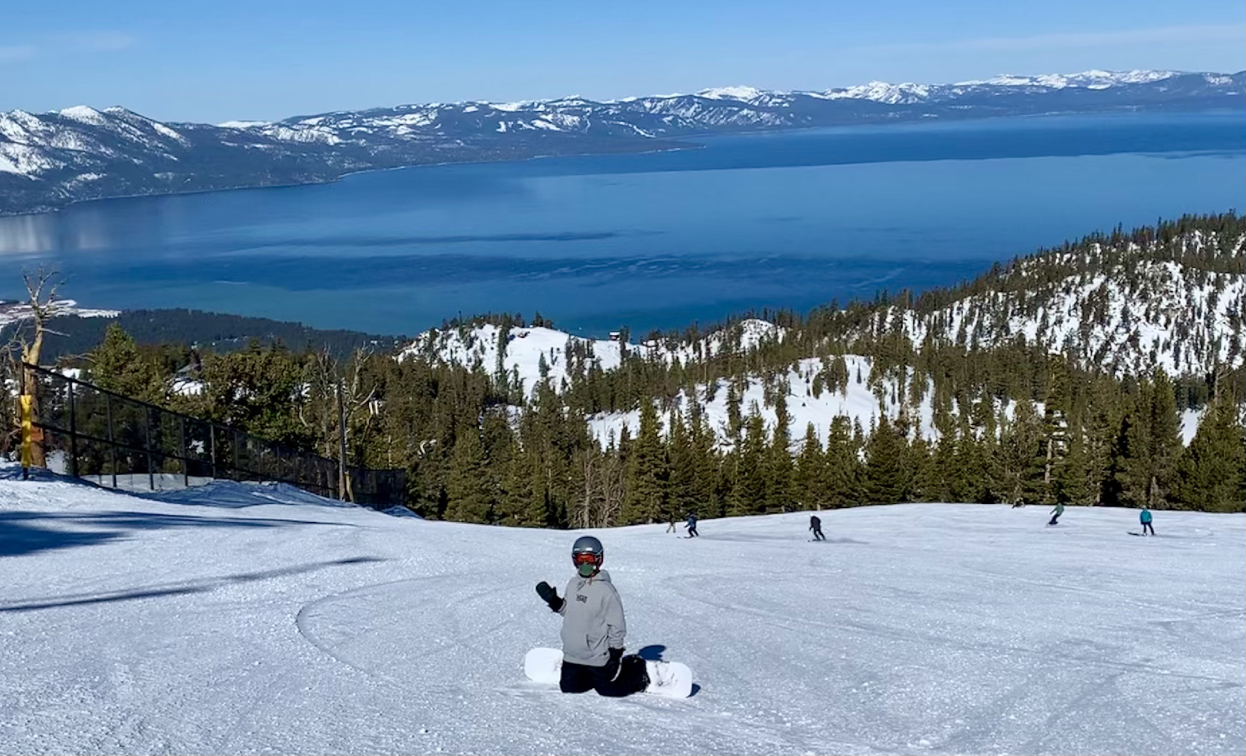 The author's son enjoys snowboarding at Heavenly Ski Resort in Lake Tahoe, Calif. (Courtesy of Margot Black)