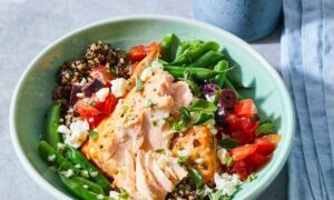 A Greek Salmon Bowl That Keeps On Giving