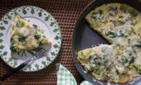 Leek, Spinach, and Potato Frittata