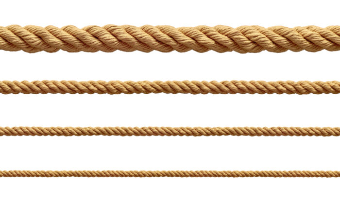 Rope comes in handy for many home projects, ranging from holding a cabinet in place during installation to putting tension on a tree when cutting it down. (Picsfive/Shutterstock)