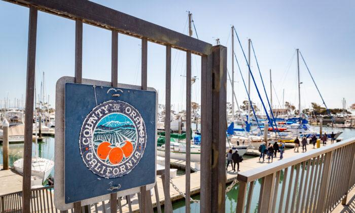 Dana point Harbor in Dana Point, Calif., on March 8, 2021. (John Fredricks/The Epoch Times)