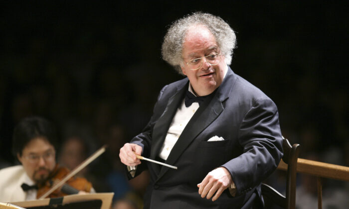 Boston Symphony Orchestra music director James Levine conducts the symphony on its opening night performance at Tanglewood in Lenox, Mass., on July 7, 2006. (Michael Dwyer/AP Photo)