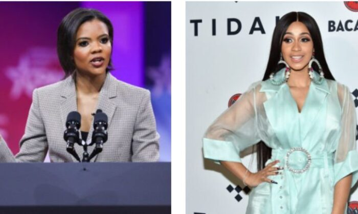 Candace Owens and Cardi B (Samira Bouaou/The Epoch Times); (Mike Coppola/Getty Images for TIDAL)