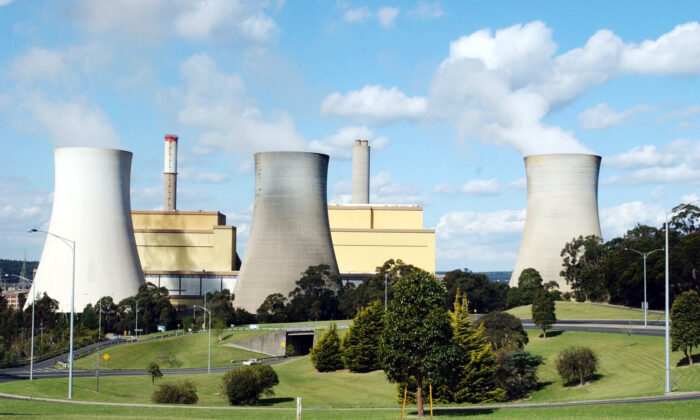 The Yallourn power station in Latrobe Valley, Victoria, on Oct. 9, 2002. (AAP Image/Julian Smith)