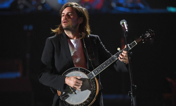 Winston Marshall of Mumford & Sons performs onstage during the 2019 iHeartRadio Music Festival at T-Mobile Arena in Las Vegas, Nev., on Sept. 21, 2019. (Kevin Winter/Getty Images for iHeartMedia)