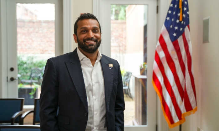 Kash Patel, former principal deputy to the acting director of national intelligence and former senior counsel to the House Intelligence Committee, in Washington on March 15, 2021. (York Du/The Epoch Times)