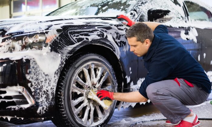 Your car has served you well all winter long. It needs a good cleaning, too! (Nejron Photo/Shutterstock)