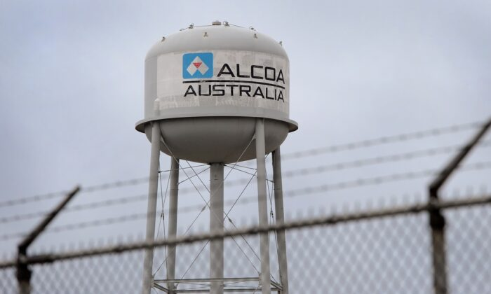 The aluminium plant of manufacturer Alcoa at Point Henry, near the regional city of Geelong in Victoria on Feb. 11, 2012. (William West /Getty Images)