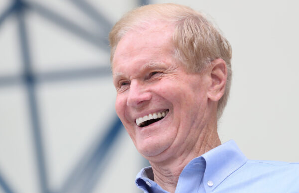 Senator Bill Nelson (D-FL) smiles in West Palm Beach, Florida