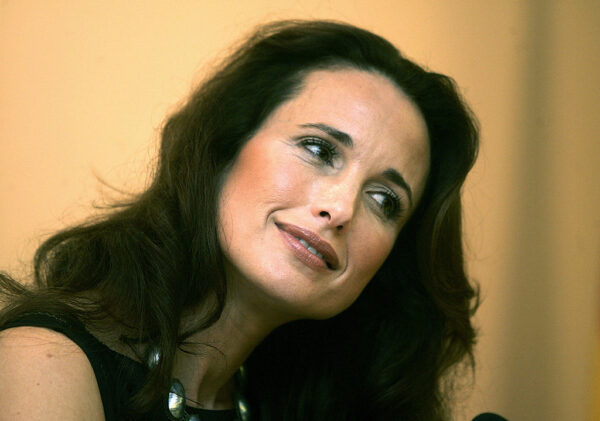 US actress Andie MacDowell answers journ