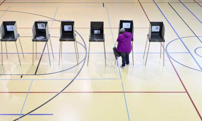 A woman votes in Durham, N.C., on Nov. 8, 2016. (Sara D. Davis/Getty Images)