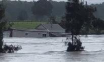 House Swept Down NSW River in Australia