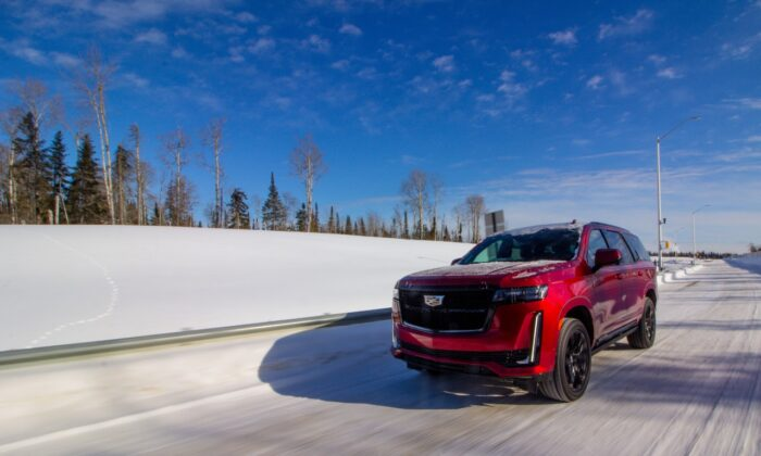Cold weather testing at Kapuskasing Proving Grounds. (Courtesy of General Motors)