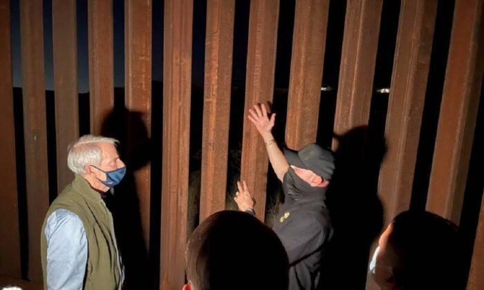 Sen. Rob Portman (R-Ohio) visits the U.S.-Mexico border in El Paso, Texas, on March 18, 2021. (Sen. Rob Portman's Office)