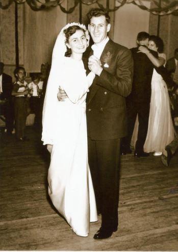 Mom and Dad wedding 1948