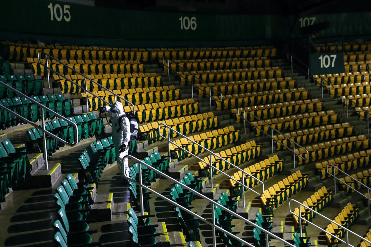 George Mason University Sanitizes Arena To Protect From Covid-19