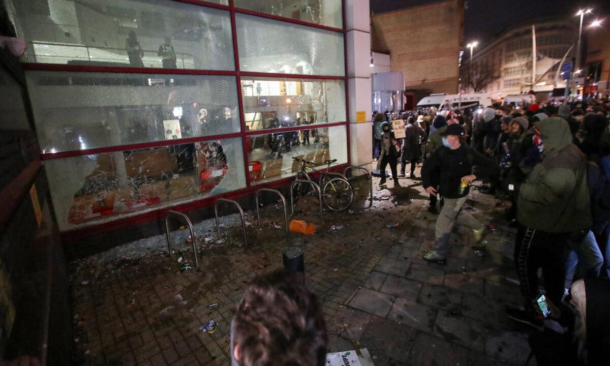Bristol riot police station
