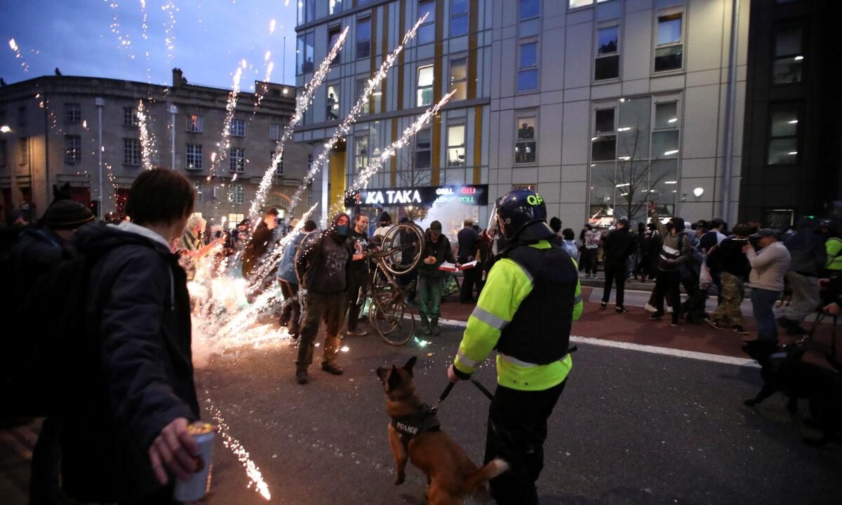 Bristol riot projectile