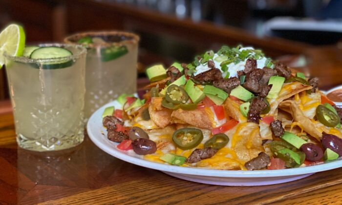 Muldoon's Irish Pub in Newport Beach, Calif., pairs a signature margarita with an order of steak nachos. 