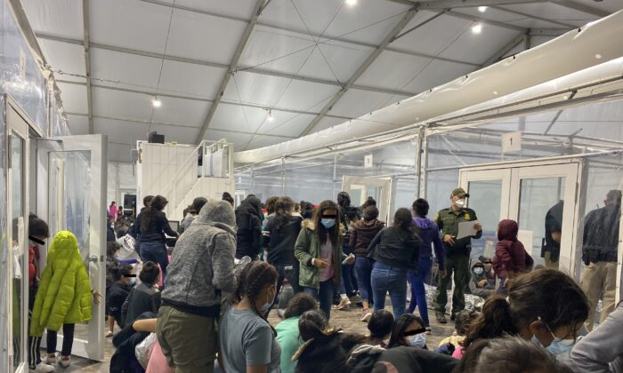 An overflow facility for illegal immigrants in Donna, Texas, in an undated photo. (Courtesy of Rep. Henry Cuellar's office)