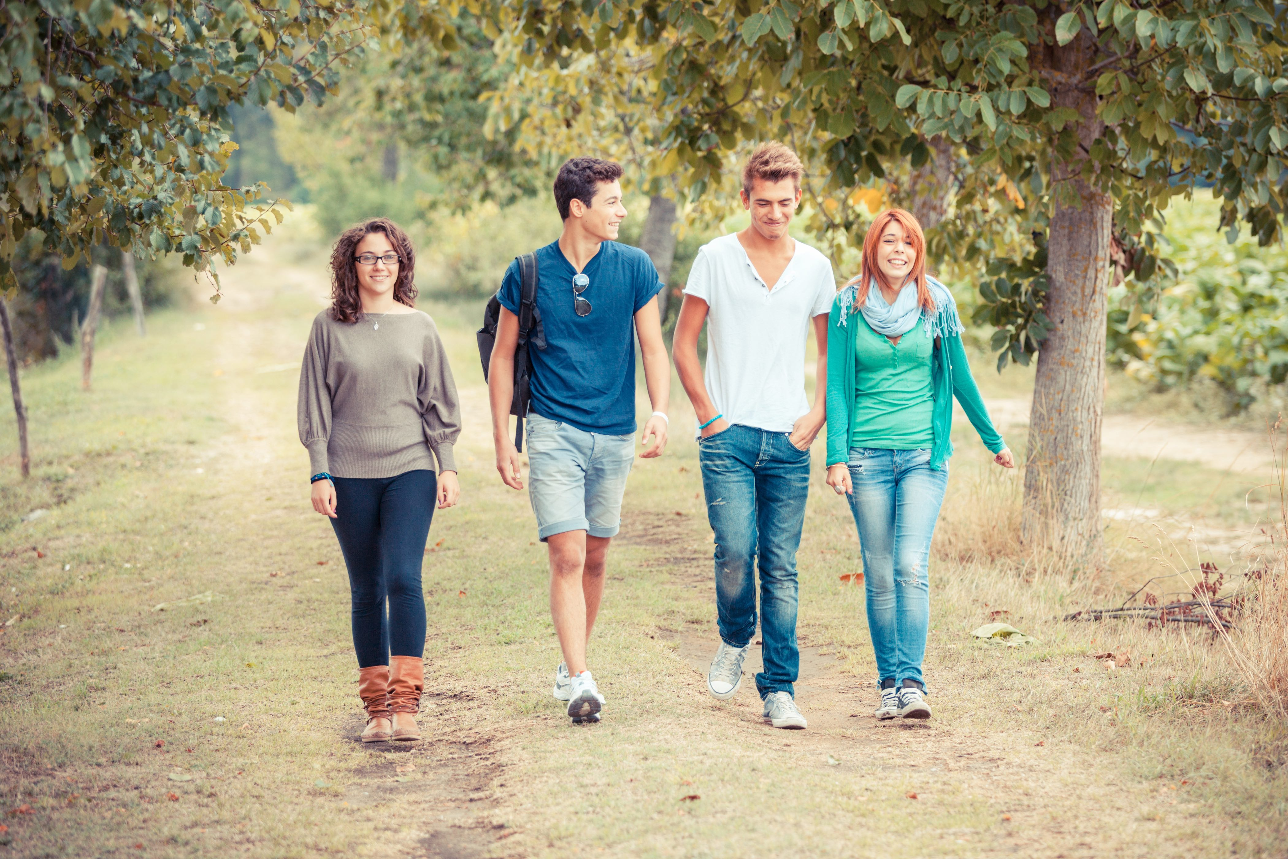 Few of us could have imagined that teenagers would one day be denied the opportunity to walk outside with friends. (William Perugini/Shutterstock)