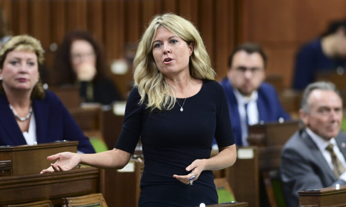 Conservative Member of Parliament Michelle Rempel Garner asks a question during question period in the House of Commons on Nov. 30, 2020. (Sean Kilpatrick/The Canadian Press)