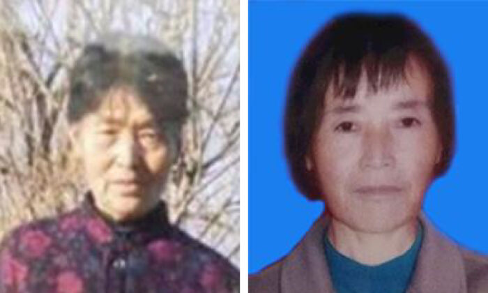 Falun Gong adherents Li Caie (left) and Zhang Cuicui (right) die on Nov. 29, 2020 and Feb. 3, 2021, after 21-year persecution launched by the Chinese Communist Party. (Minghui)