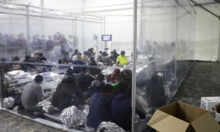 A temporary processing facility in Donna, Texas, as seen in a photo released by Customs and Border Protection on March 23, 2021. (CBP)