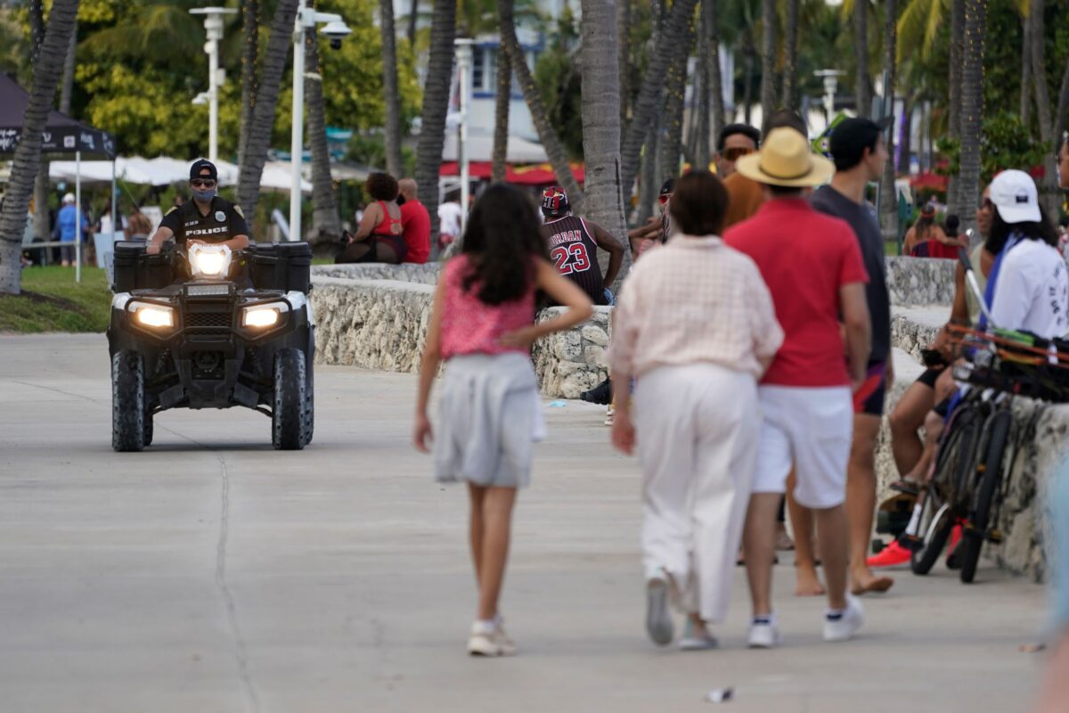 police officer at Miami Beach