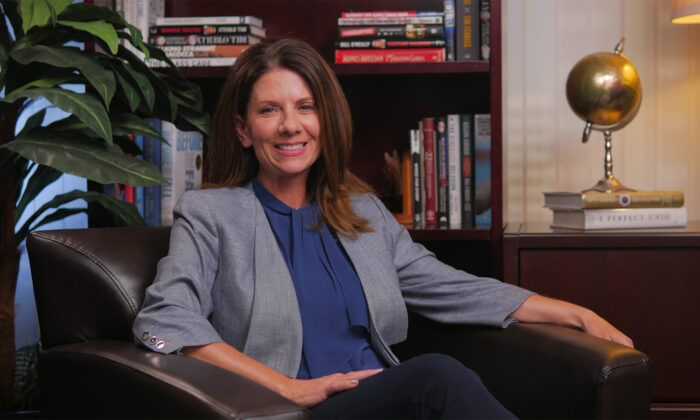 Sen. Melissa Melendez speaks in an episode of The Epoch Times' California Insider, in Irvine, Calif., on March, 19, 2021. (Hau Nguyen/The Epoch Times)