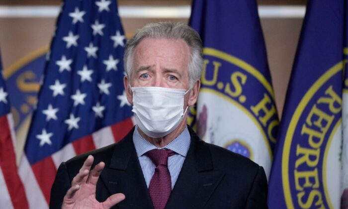 Rep. Richard Neal (D-Mass.) speaks during a news conference on Capitol Hill in Washington, on March 9, 2021. (Drew Angerer/Getty Images)