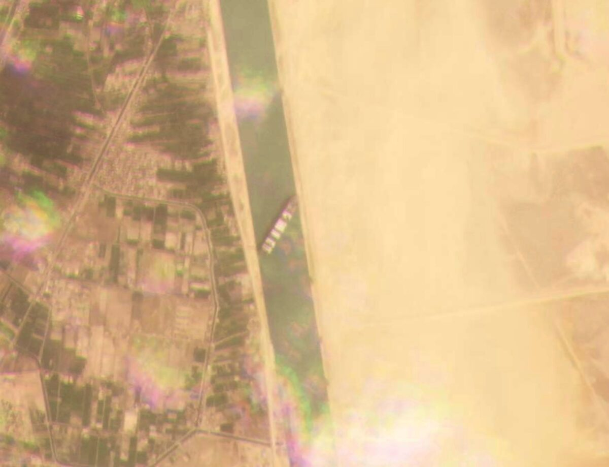 the cargo ship stuck in the Suez Canal