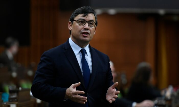 Conservative MP Michael Chong rises during Question Period in the House of Commons on Parliament Hill in Ottawa on Dec. 10, 2020. (Justin Tang/The Canadian Press)