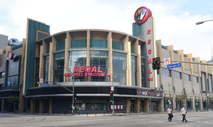 Regal Cinemas LA Live in Los Angeles on Oct. 5, 2020. (Frederic J. Brown/AFP via Getty Images)