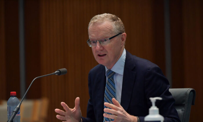 RBA Governor Philip Lowe at the Standing Committee on Economics at Parliament House on February 05, 2021, in Canberra, Australia.  (Sam Mooy/Getty Images)