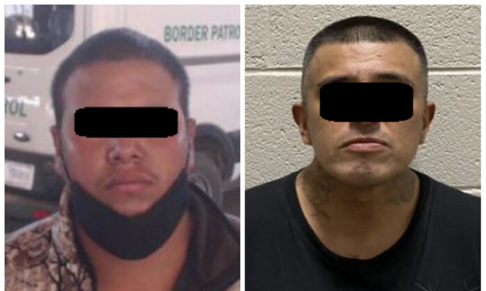 Illegal aliens found to be a convicted sex offender (L) and a felon gang member (R) by border agents assigned to the El Centro sector in California on March 24 and March 23, 2021, respectively. (U.S. Customs and Border Protection)