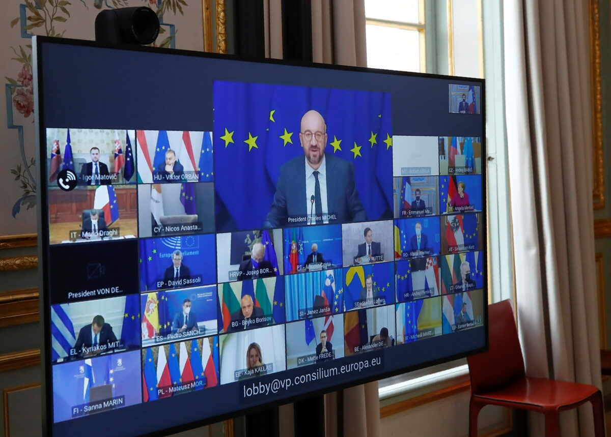 EU summit video conference