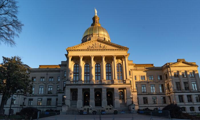 A general view of the Georgia State Capitol building in Atlanta, Georgia, on Jan. 18, 2021. (Megan Varner/Getty Images)