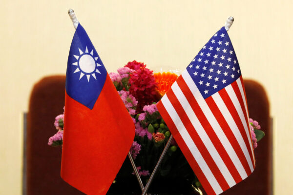 Flags of Taiwan and U.S.