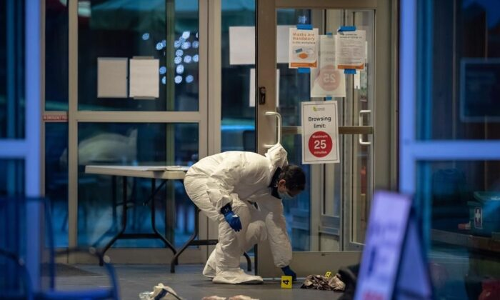 Multiple victims were stabbed inside and outside a library in North Vancouver on March 27, 2021. (The Canadian Press)