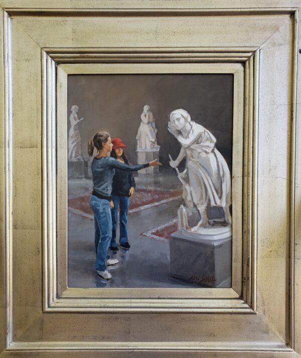 Allison and Marissa at the Met framed 2010 Jon Smith