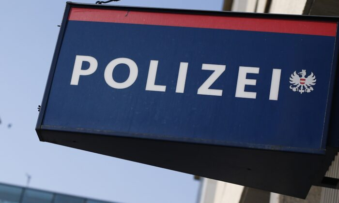 A sign of the Polizei, Austria's Police department, in Vienna, on Sept. 6, 2012. (Alexander Klein/AFP via Getty Images)