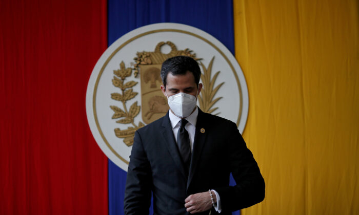 Venezuela's opposition leader Juan Guaido attends a session of Venezuela's National Assembly in Caracas, Venezuela, on Dec. 15, 2020. (Manaure Quintero/Reuters)