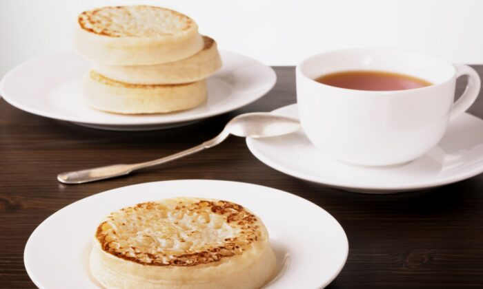 Crumpets, a staple in English kitchens, are riddled with little holes ideal for soaking up butter or marmalade. (Vetasster/Shutterstock)
