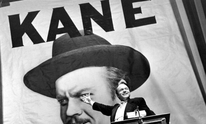 The iconic image of Orson Welles as Citizen Kane. (Public Domain)