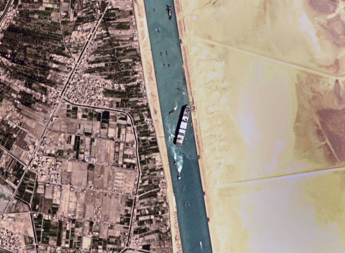 Ever Given cargo ship stuck in Suez Canal